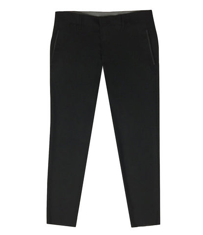 Black Virgin Wool Pants