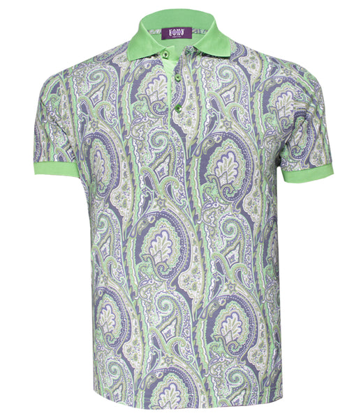 Green Patterned Polo