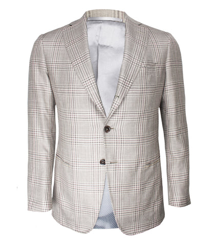 Beige Checked Jacket
