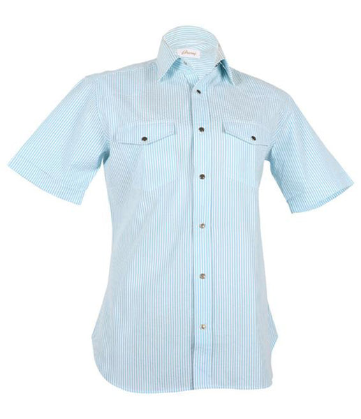 Blue Striped Shirt, Size I(14.5)
