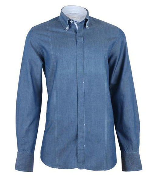 Denim Blue Linen Shirt