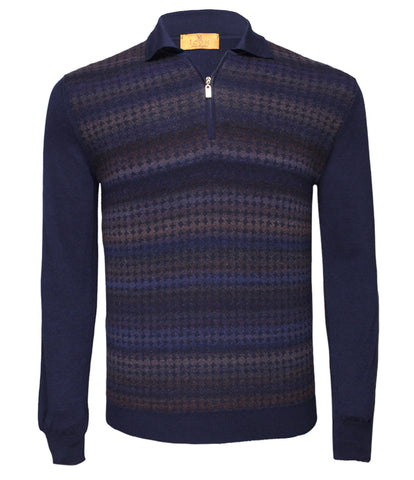 Navy Polo Sweater