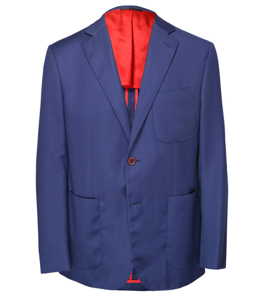 Blue Virgin Wool Jacket