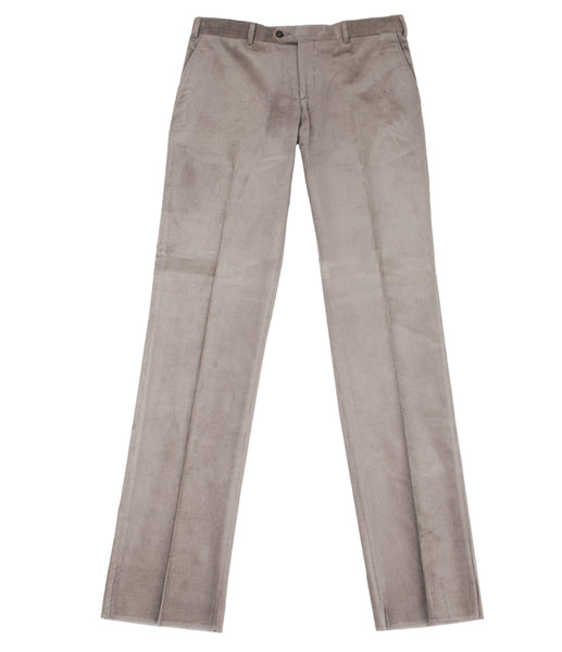 Grayish Green Velvet Pants
