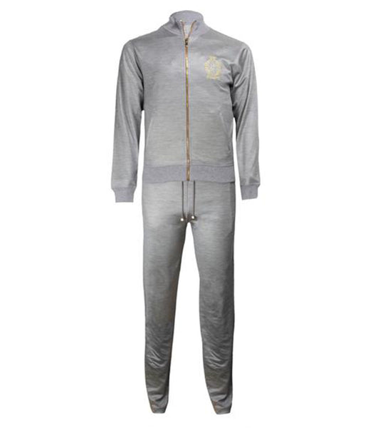 Grey Silk Cotton Fleece Set