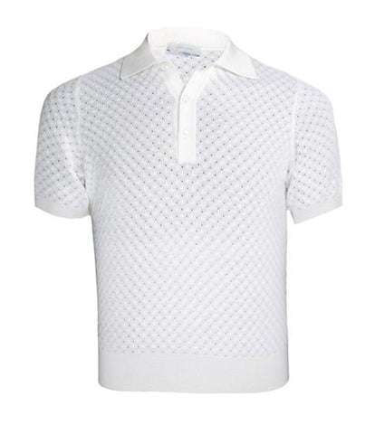 Cream Knitted Polo