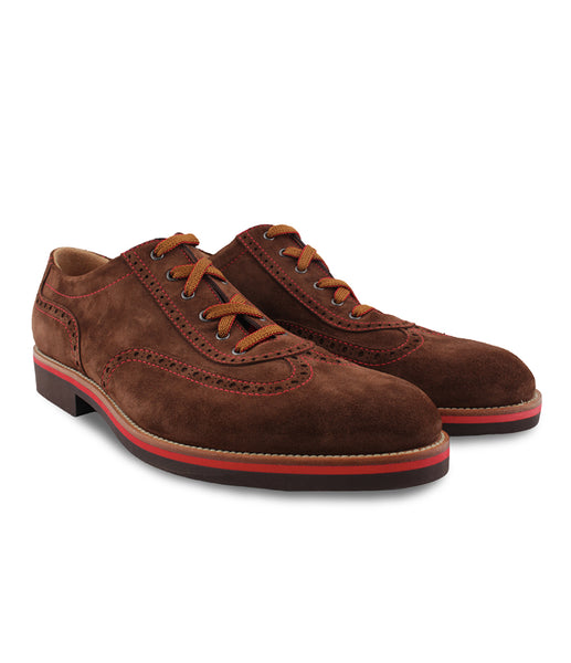 Brown Suede Lace-ups, Size 6.5