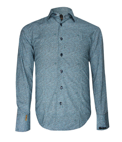 Green Patterned Shirt French