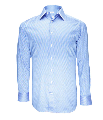 Blue Patterned Dress Shirt
