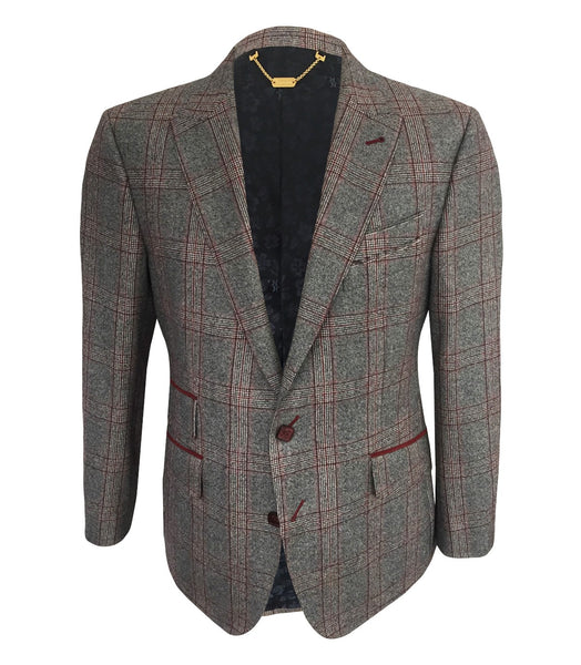 Grey Checkered Sport Jacket