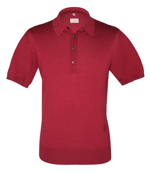 Red Wool Polo Knitwear