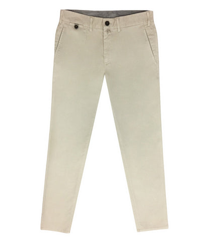 Beige Cotton Lyocell Chinos