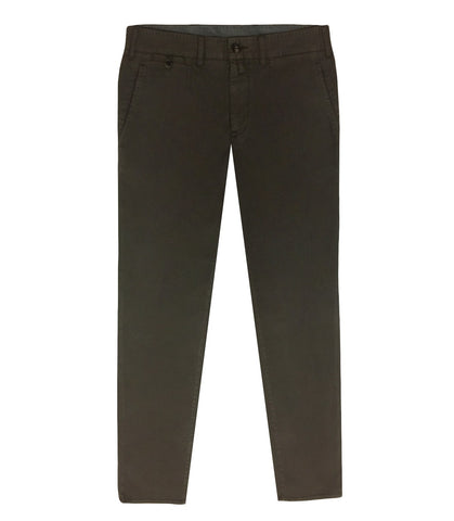 Brown Cotton Lyocell Chinos