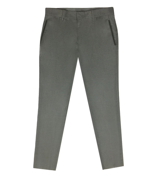 Grey Virgin Wool Pants