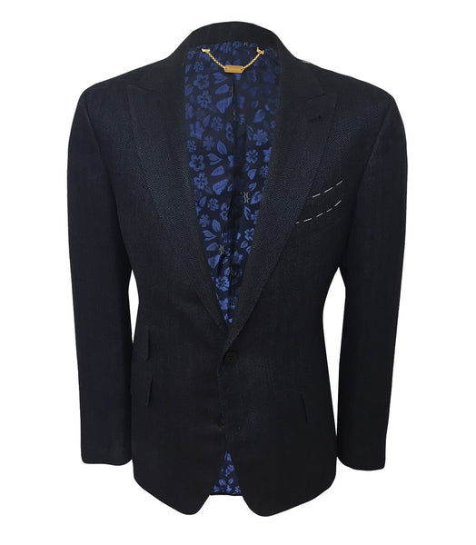 Dark Blue Silk Jacket