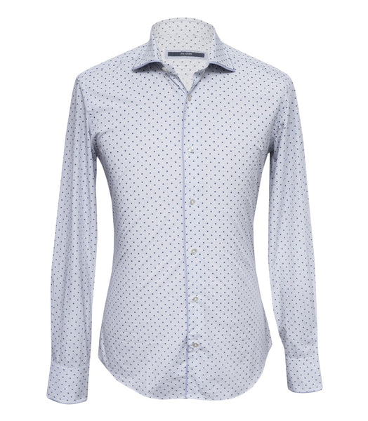 Violet Checked Floral Shirt