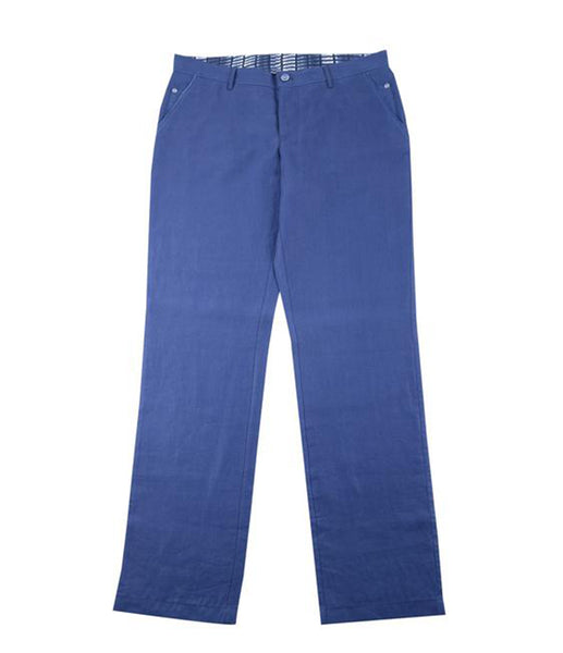 Blue Linen Chinos, Size 52