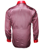 Red Striped Silk Shirt