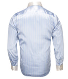 Blue Silver Silk Shirt
