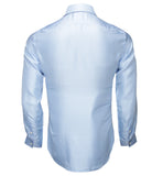 Light Blue Silk Shirt Jacquard