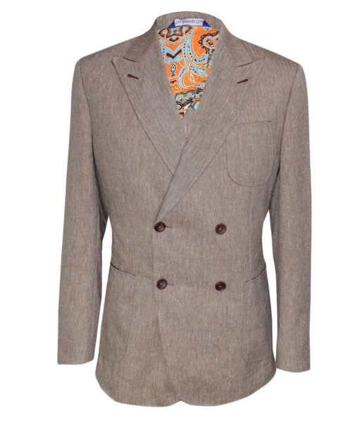 Beige Wool Suit, Size 38""
