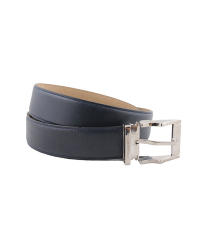 Navy Calf Croco Belt