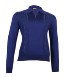 Indigo Blue Polo Sweater