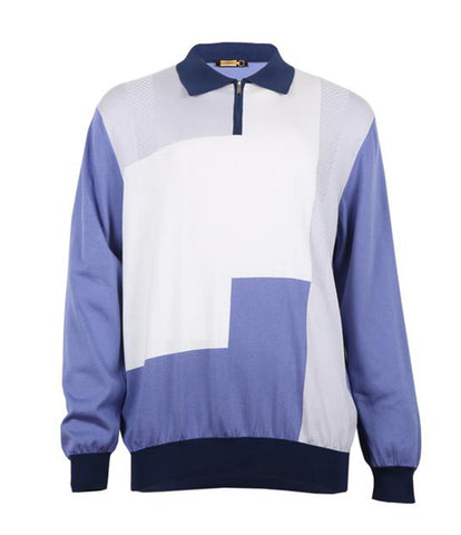 Lilac Polo Sweater, Size 3XL