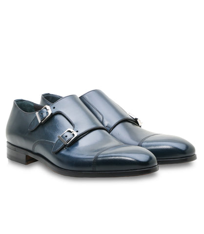 Blue Calfskin Monks, Size 10