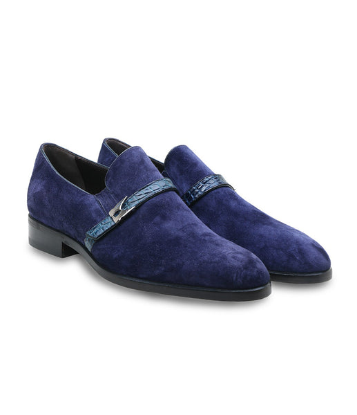 Suede Croco Loafers