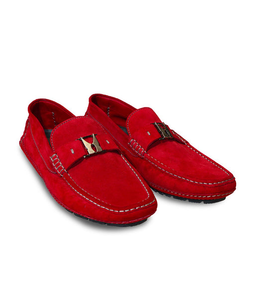 Suede Driver Moccasins, Size 6