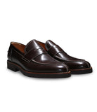 Brown Calfskin Loafers