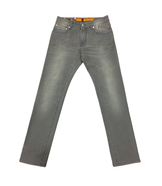 Grey Cotton Jeans
