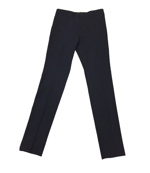 Blue Cotton Formal Pants