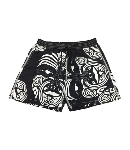 Black White Swimming Shorts