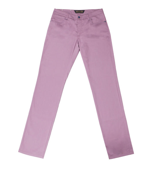 Lilac Cotton Chinos Slim Fit
