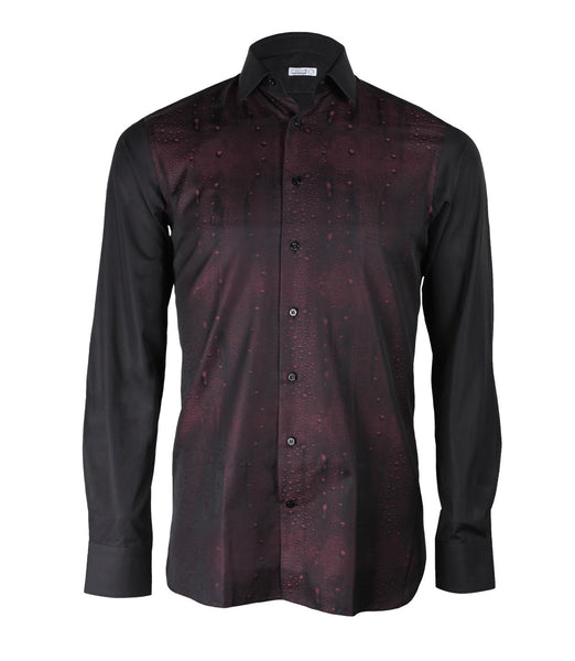 Maroon Black Dress Shirt