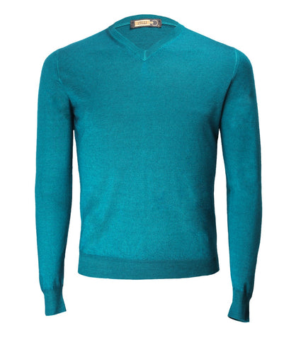 Emerald Green V-neck Sweater