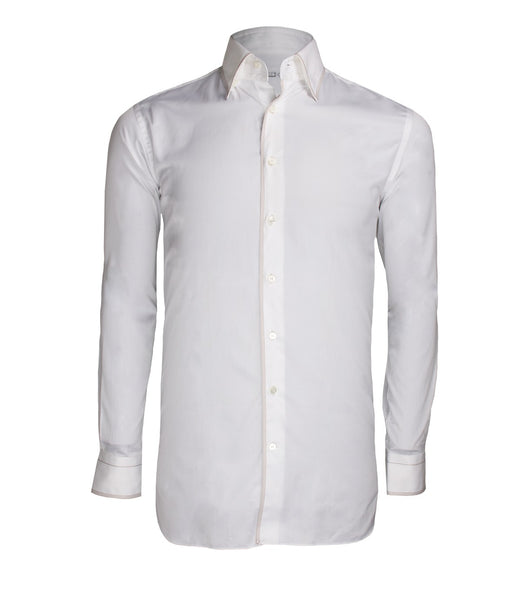 White Cotton Shirt, Size 41