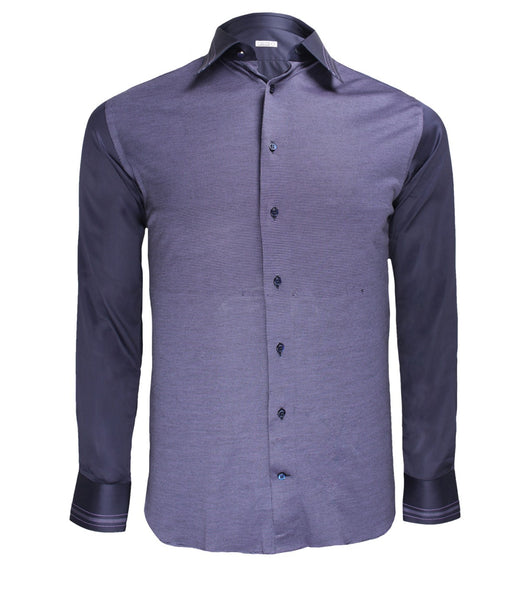 Purple Cotton Dress Shirt