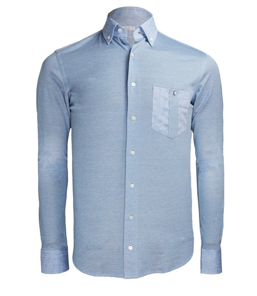 Blue Casual Dress Shirt