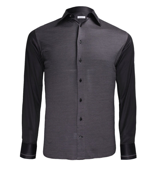 Black Purple Dress Shirt