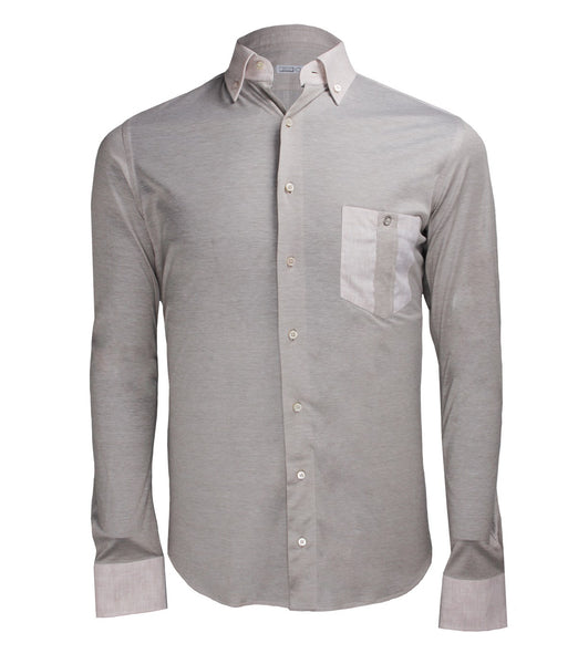 Sand Beige Casual Shirt