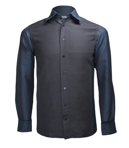 Blue Grey Dress Shirt