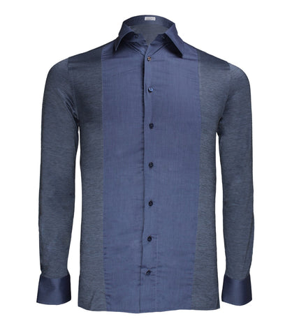 Blue Knitted Dress Shirt