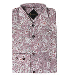 Maroon Patterned Shirt Paris
