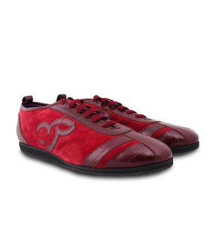 Maroon Fashion Sneakers