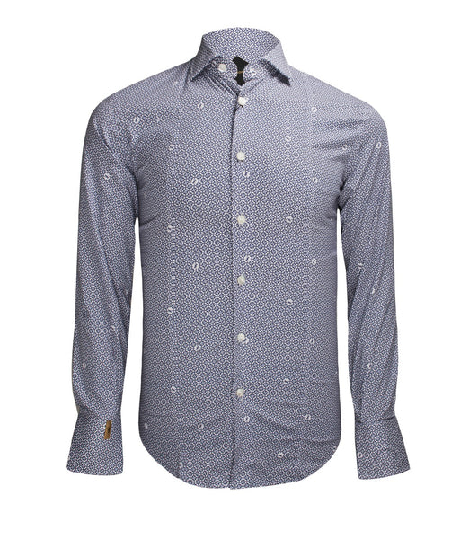Blue Patterned Shirt Paris