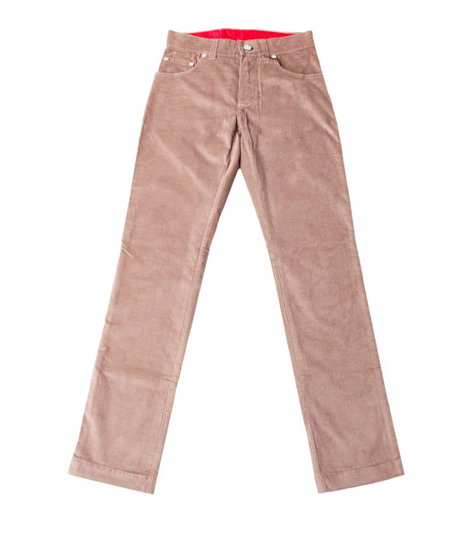Brown Beige Velvet Pants