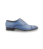 Blue Calfskin Oxfords